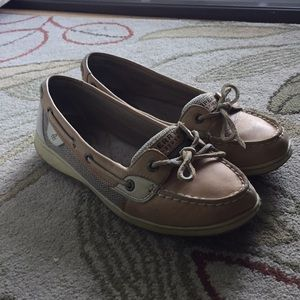 Sperry Angelfish Boat Shoes - Linen Oat